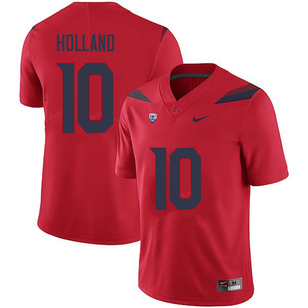 Men #10 Malcolm Holland Arizona Wildcats College Football Jerseys Sale-Red